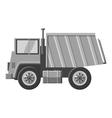 Dump truck icon gray monochrome style vector image