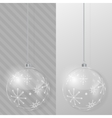 Glass Christmas ball Design template vector image vector image