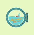 summer holiday on yacht vector image