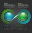 Eco water drop nature infinity loop infographic vector image
