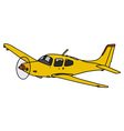 Yellow propeller airplane vector image vector image