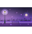 Night in city park vector image