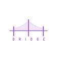 Bridge purple logo architecture concept icon vector image