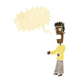 cartoon man freaking out with speech bubble vector image