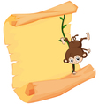 A monkey and a paper sheet vector image