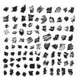 abstract background set of ink strokes vector image