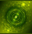 background with gears in green vector image