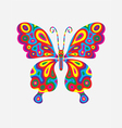 Butterfly abstract colorfully vector image