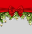 Christmas Holiday Background with Fir Twigs and vector image