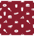 fast food icons pattern eps10 vector image
