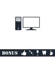 PC icon flat vector image