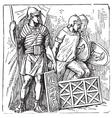 Roman segmented armors vector image