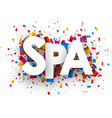 Spa sign vector image
