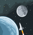 Spaceship mission to moon vector image