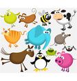 Funny cartoon animals vector image