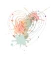 heart with blots vector image