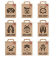 dog food packages set vector image