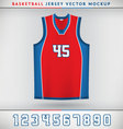 Basketball Jesrsey vector image vector image