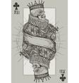 King Skeleton vector image