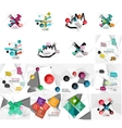 Set of abstract geometric paper infographic banner vector image