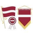 latvia flags vector image