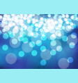 abstract white bokeh on blue night vector image