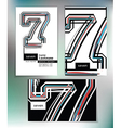 Business card design with number 7 vector image