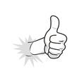 cartoon guy thumbs up vector image