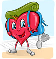 heart and the experience of the journey of love vector image
