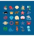 Underwater life and ocean animals vector image