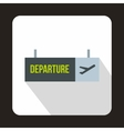 Airport departure sign icon flat style vector image