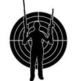 man and target stencil vector image vector image