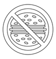Fast food danger icon outline style vector image