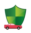shield and car icon vector image