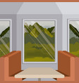 colorful background interior train with a vector image