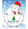 New year lamb 2016 vector image vector image