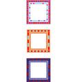 mosaic border vector image vector image
