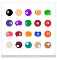 Complete Set of Billiard Balls on White Background vector image