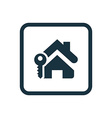 home key icon Rounded squares button vector image