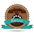 retro style vector image vector image