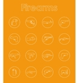 Set of firearms simple icons vector image