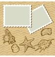 Vintage Seashells Postcard vector image vector image