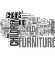 a quick guide to children s furniture for the vector image