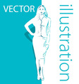 Background with business woman vector image