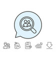 business recruitment line icon search employees vector image