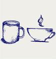 Cup drink vector image