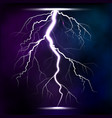 lightning storm strike realistic 3d light lighting vector image