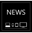 News on all mobile devices - laptop smart phone vector image