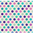 seamless retro polka dots background vector image