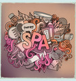 spa hand lettering and doodles elements vector image